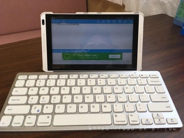 AnkerBluetoothウルトラスリムワイヤレスキーボードをタブレットと接続した