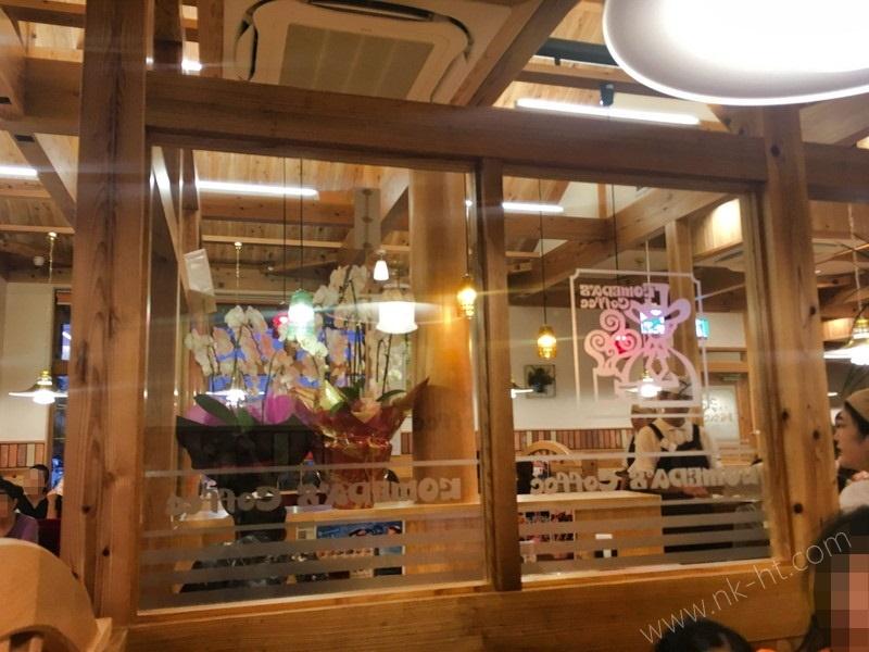 コメダ珈琲店沖縄糸満店の店内