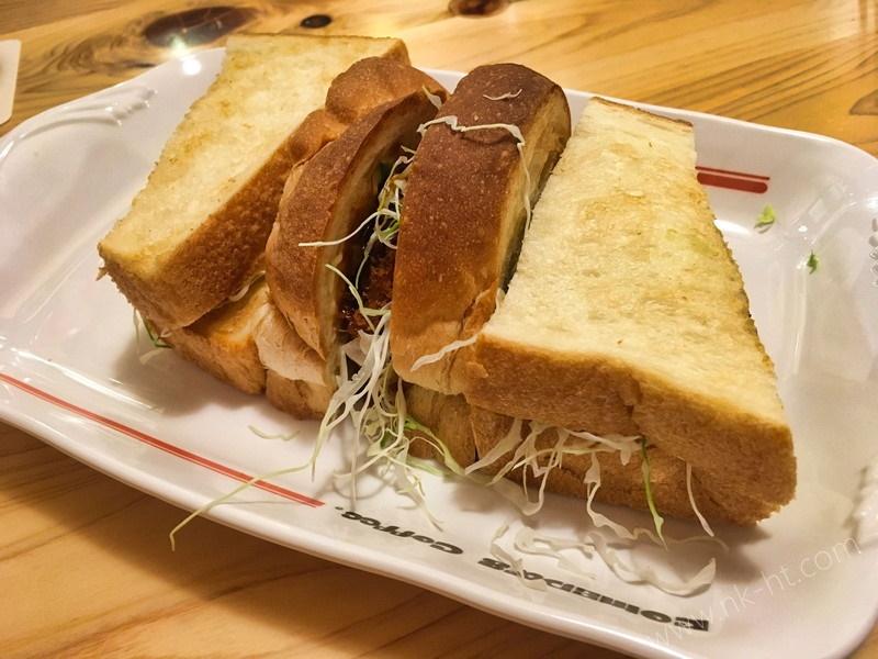 コメダ珈琲店沖縄糸満店の味噌カツサンド