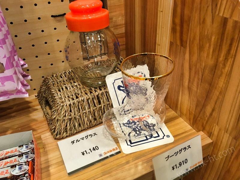コメダ珈琲店沖縄糸満店の販売コーナーのグラス