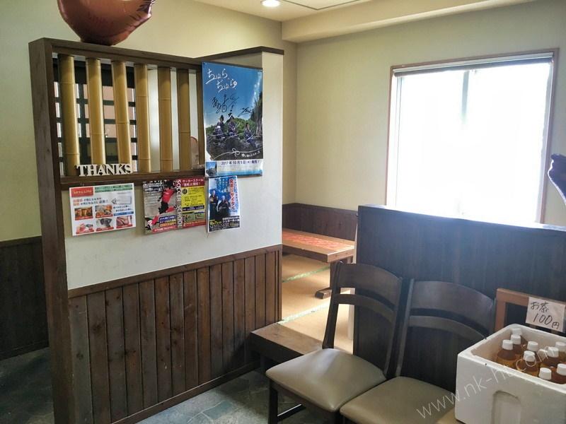 唐揚げ専門店のとり坊主の座敷席